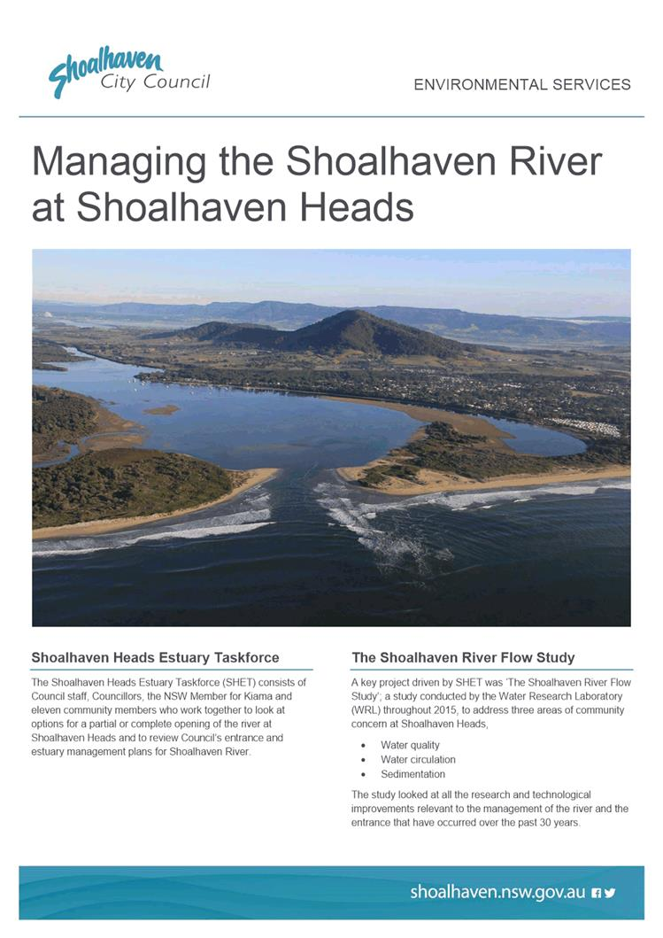Agenda of Shoalhaven Heads Estuary Taskforce - 12 December 2016